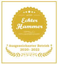 """Siegel """"Echter Hammer"""" - myRegioGuide.org gehört dazu"""