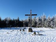 Gipfelkreuz auf dem Langenberg - höchster Punkt in Nordrhein-Westfalen