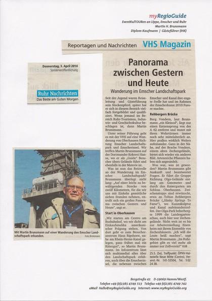 VHS Magazin - Sonderdruck der Ruhr Nachrichten, Dortmund - Donnerstag, 3 April 2014